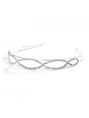 Unique Open Braid Rhinestone Prom Headband