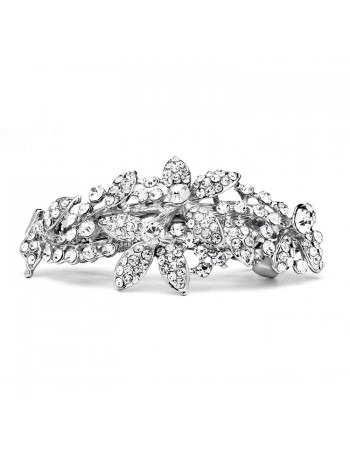 Shimmering Crystal Abstract Style Bridal or Prom Hair Barrette