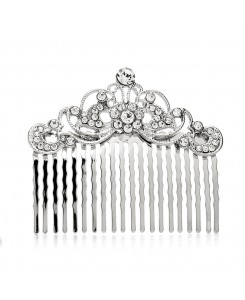Vintage Crystal Swirls Bridal or Prom Hair Comb