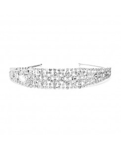 Shimmering Rhinestone Bold Headband for Weddings or Proms