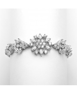 Top Selling Marquis Cluster Wedding or Pageant Bracelet 6 7/8