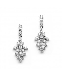 Marquis CZ Cluster Wedding or Bridesmaids Earrings