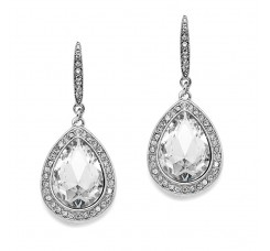 Best Selling Prom or Bridesmaids Pear Shaped Earrings with Crystal Accents