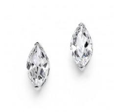 Cubic Zirconia Marquis Stud Earrings