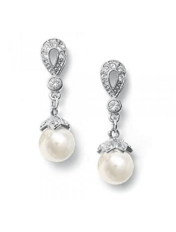 Vintage CZ Pave Bridal Earrings
