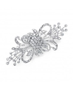 Dramatic Crystal Bridal Brooch