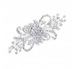 Dramatic Crystal Spray Bridal Brooch