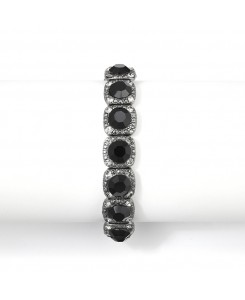 Bridesmaid or Prom Stretch Bracelet with Jet Black Crystals