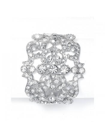 Bold Crystal Cuff Wedding Bracelet