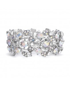 Bold Crystal AB Vine Wedding Stretch Bracelet