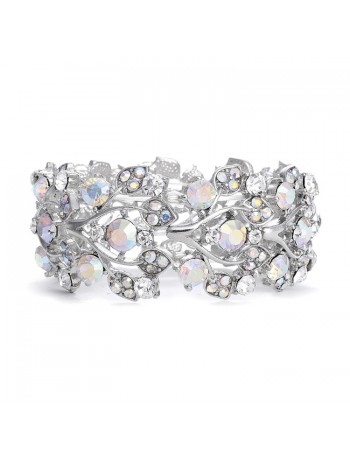 Bold Crystal AB Vine Wedding Stretch Bracelet