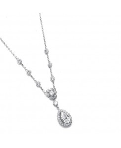 Cubic Zirconia Pendant with pear shaped Drop