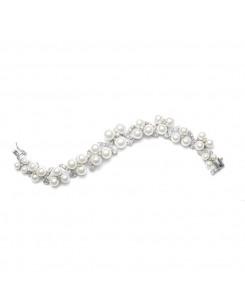 Graduated Pearl Trios Bridal Bracelet