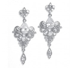 Art Nouveau Cubic Zirconia Wholesale Bridal Earrings