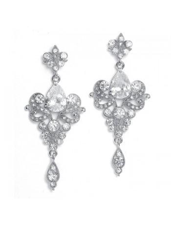 Art Nouveau Cubic Zirconia Wholesale Bridal Earrings