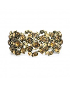Bold Brown Crystal Vine Stretch Bracelet