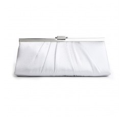 Sleek Framed Satin Evening Bag