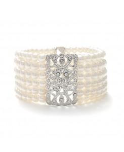 Ivory Pearl Vintage Stretch Bracelet