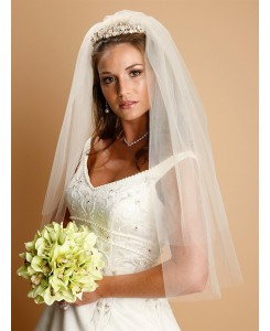 Two Layer Cut Edge Bridal Veils