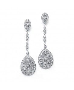 Graceful Faux Marcasite Dangle Earrings